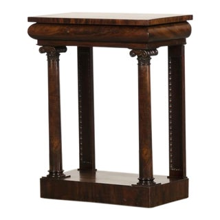 English William IV Period Mahogany Console Table with Drawer circa 1835