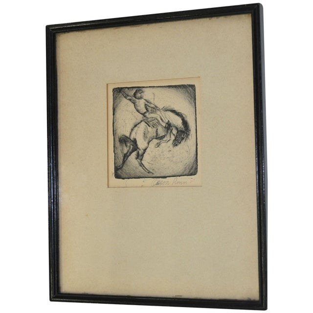 Image of Orson Linn 1940's Cowboy Etching