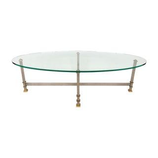 Maison Jansen Style Chrome & Brass Coffee Table
