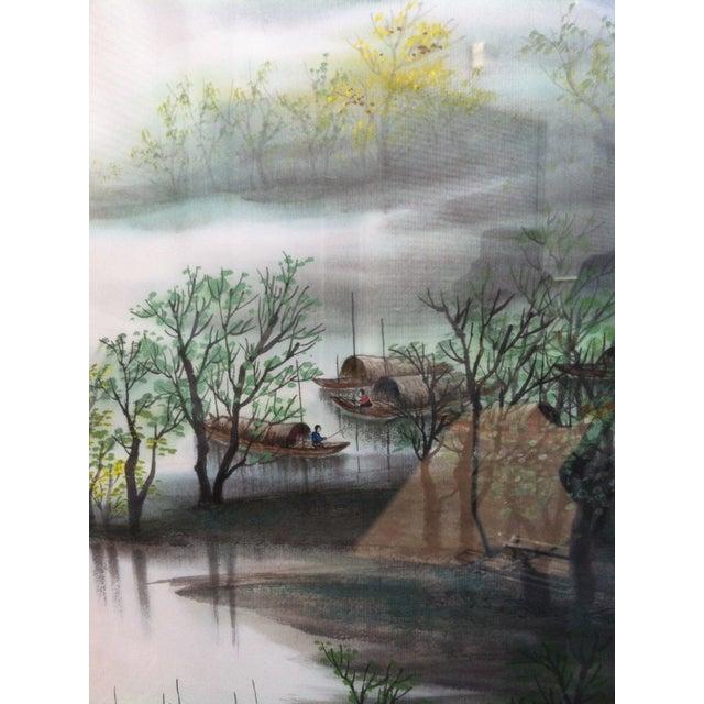 Teng Shu Ming River Scene Painting - Image 4 of 4