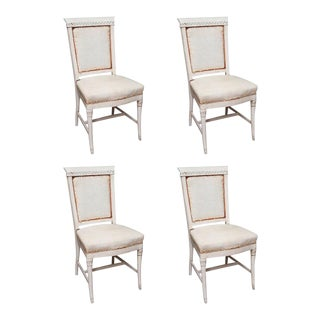 Antique Hand Painted French Dining Chairs - Set of 4