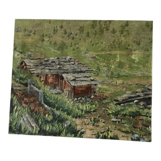 Original Landscape Painting Impressionist Alpine Scene