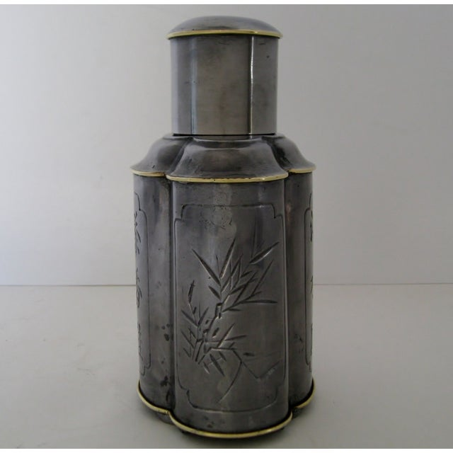 Chinese Pewter Flask - Image 4 of 8