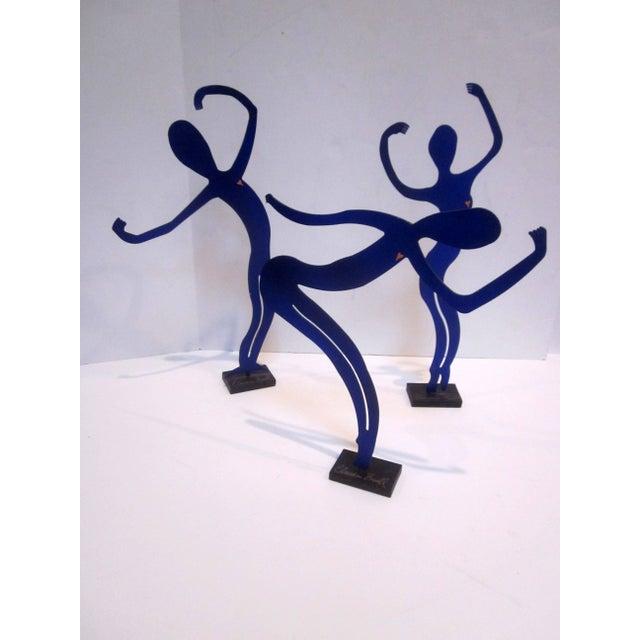 Modernist Abstract Dancer Steel Sculptures - Set 3 - Image 2 of 6