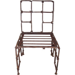 An Iron Rail Road Spike Chair