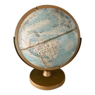Vintage 1960s Replogle Globe on Metal Stand