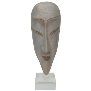 Ceramic Silver Glazed Glass Mask