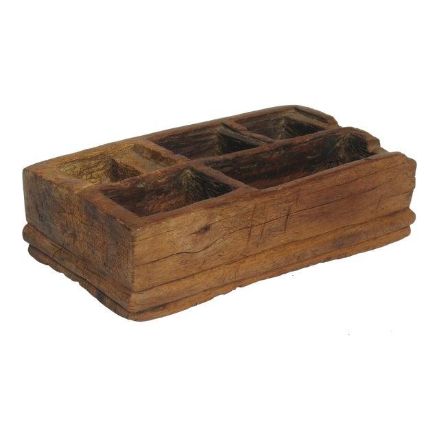Vintage Large Betel Nut Wood Server - Image 1 of 4