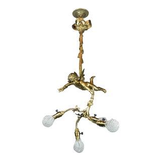 Golden Cherub Figural Light Fixture (4-Light)