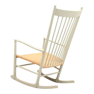 Light Gray Hans Wegner for FDB Møbler J16 Model Rocking Chair, 1962