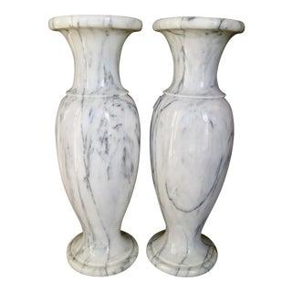 Vintage Marble Vases - A Pair