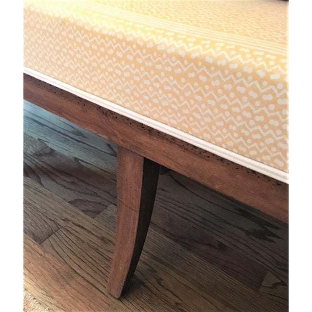 French Fortuny Upholstered Bench - Image 6 of 9