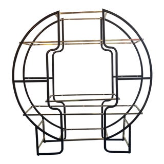 Brass Round Asian Etagere
