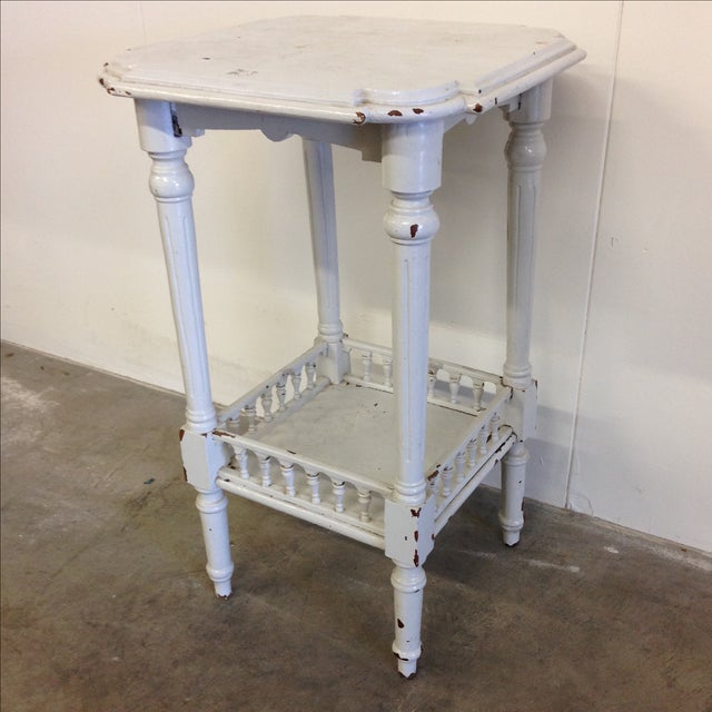 Rustic French Vintage Plant Stand - Image 3 of 10