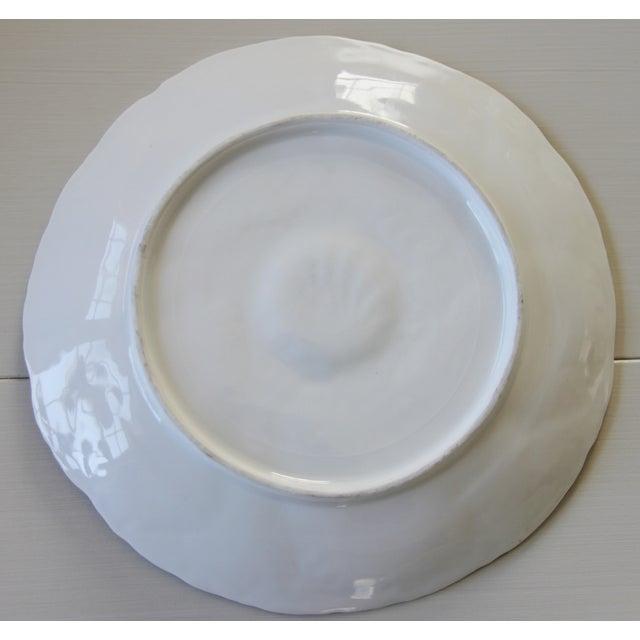 Vintage Majolica Oyster Plates - Set of 4 - Image 8 of 9