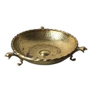 Brass Bowl With Dragon Feet