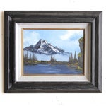 Image of Snow Capped Mountain Oil on Canvas
