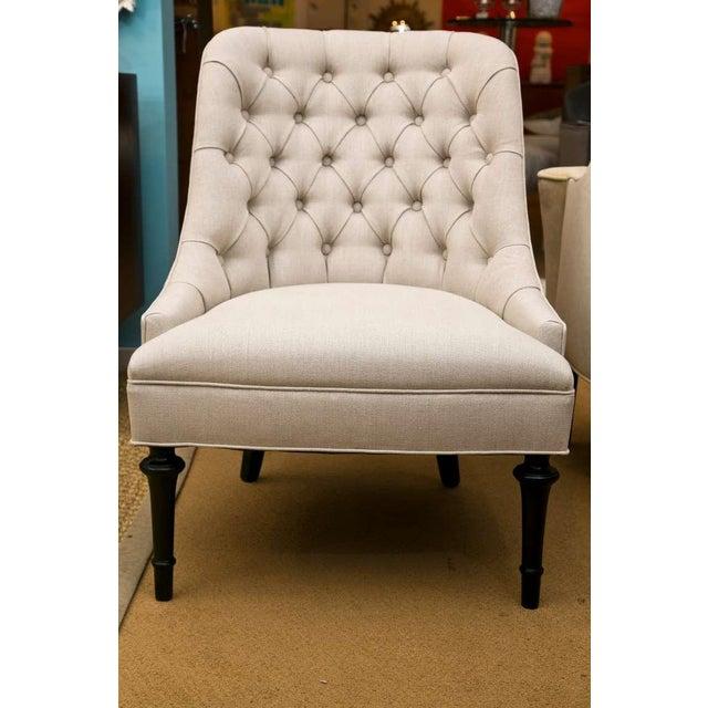 Mid-Century Slipper Chairs, Pair - Image 2 of 8