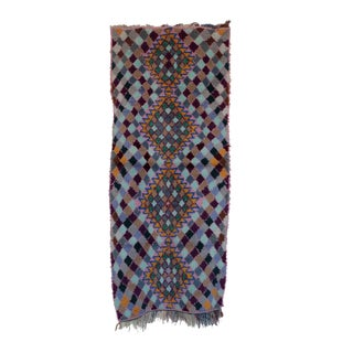 "Vintage Boujaad Moroccan Berber Rug - 2'9"" x 6'5"""