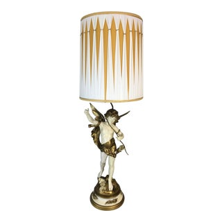 Auguste Moreau Art Nouveau Table Lamp