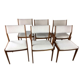 Dyrlund Mid-Century Teak Dining Chairs - Set go 6