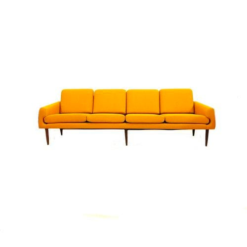 Yellow Mid-Century Modern Couch - Image 8 of 8