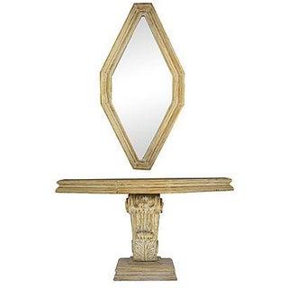 Mid Century Table & Mirror