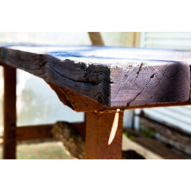 Wabi-Sabi Yakisugi Wood Dining Island Table Console - Image 7 of 11