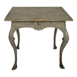 Swedish Rococo Table in Original Paint (#62-50)