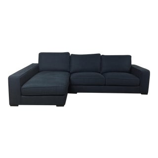 Modern Navy Sectional Sofa