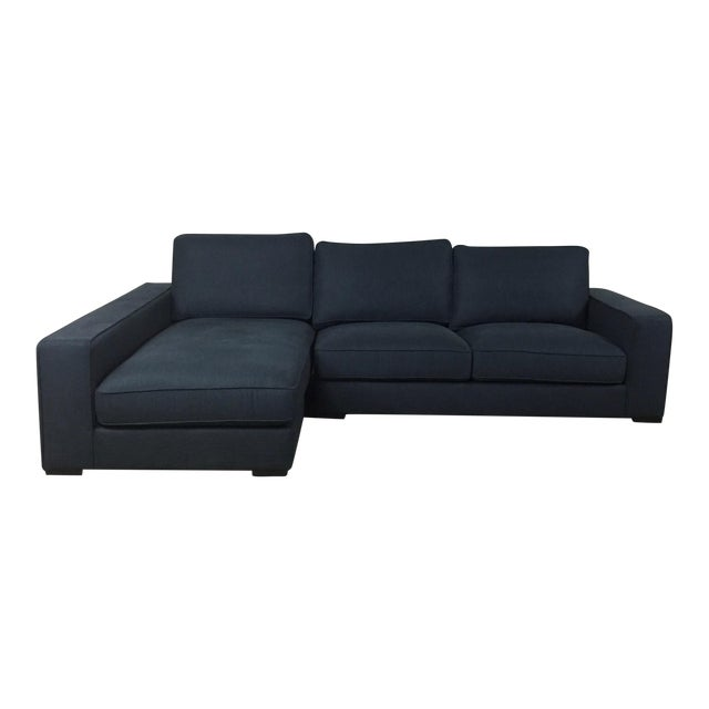 Image of Modern Navy Sectional Sofa