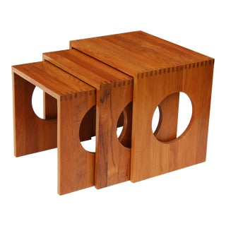 Jens Quistgaard for Richard Nissen Solid Teak Nesting Tables - Set of 3