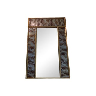 Turner Faux Bamboo Eglomise Mirror