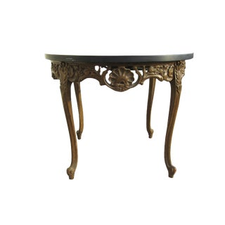 French Carved Louis XVI End Table
