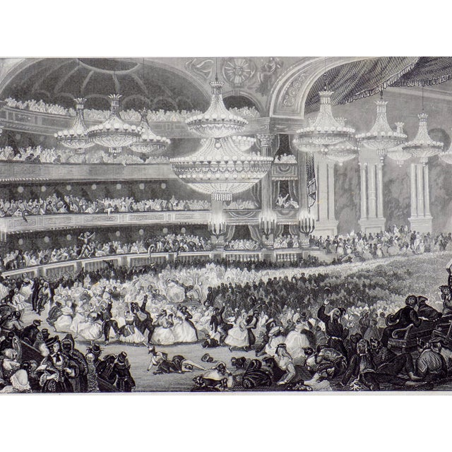 """""""The Opera House in Paris"""" 1855 Engraving - Image 4 of 6"""