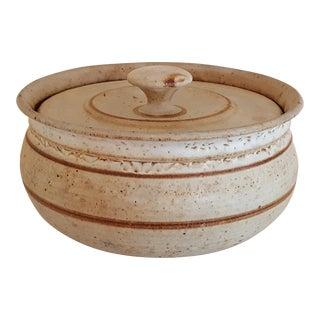 Mid-Century Stoneware Lidded Pot
