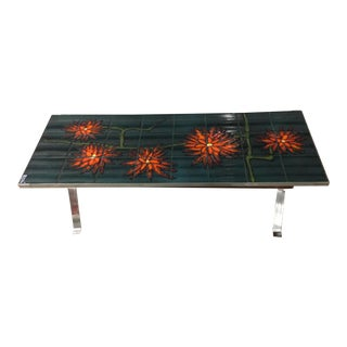 1960s Bold Vallauris Tile Low Table