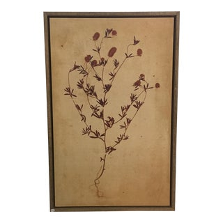 Hand Touched Mixed Media Flower Art in Wood Frame