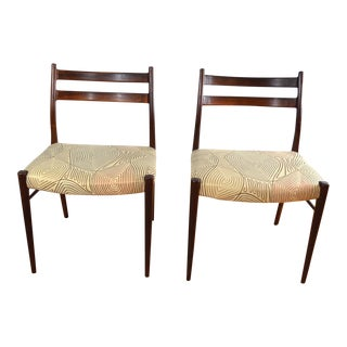 Arne Wahl Iversen Rosewood Dining Chairs - A Pair