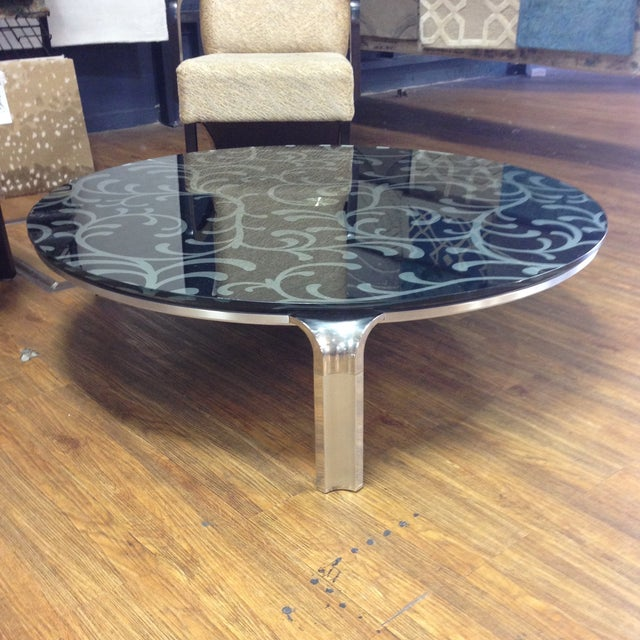 Lazy Suzan Round Coffee Table Chairish
