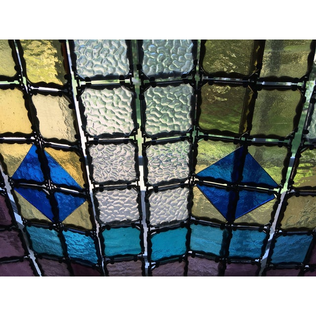 Antique French Stained Glass Window Panel - Image 6 of 6