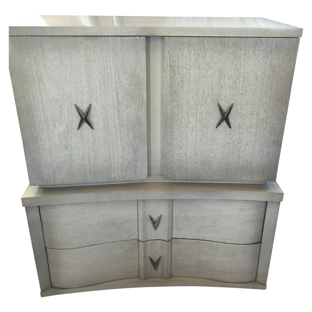 Image of Unagusta 1950s Mid Century Tall Boy Dresser