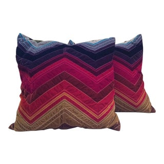 Dransfield and Ross Velvet Pillows- A Pair