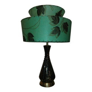 Mid-Century Gold & Black Table Lamp