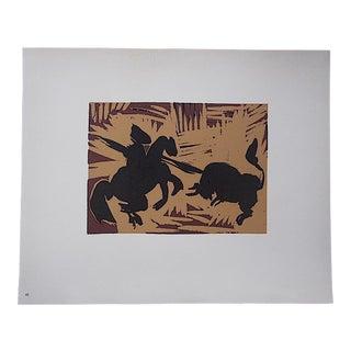 """Vintage Picasso Lithograph-""""Pique"""""""