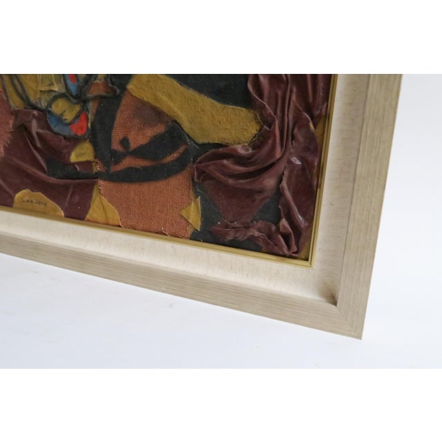 Image of Vintage Abstract Fabric Collage