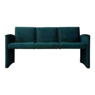 Dark Green Velvet Sofa Bench