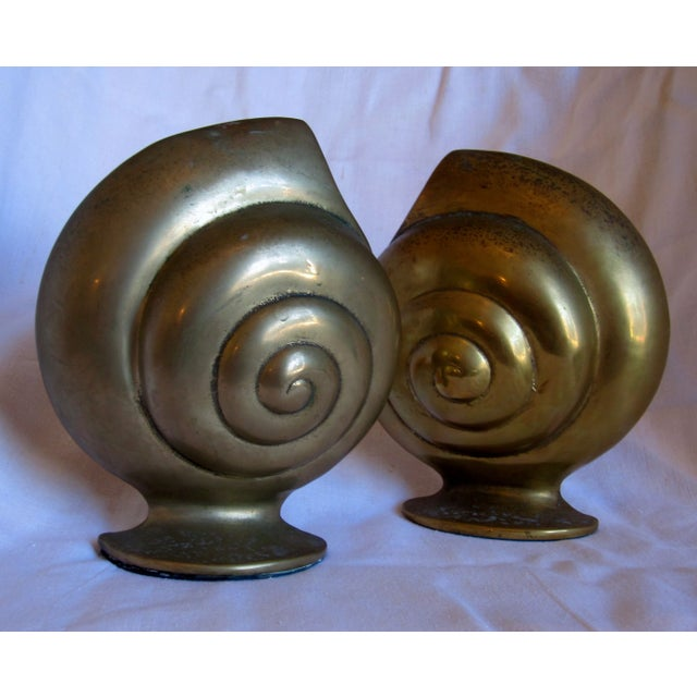 Brass Shell Bookends - Image 2 of 8