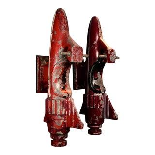 Pair of Vintage Cast Aluminum Rocket Rides