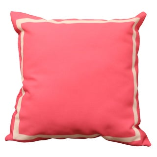 Hot Pink Pillow with White Border